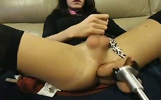 fucking machine pounds sissy fags vagina with
