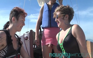 curly all beauty lesbo boat fuckfest from
