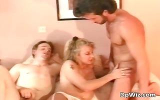 attractive golden-haired bitch blows hard ramrod