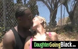 hawt daughter wang engulf and interracial fuck 1