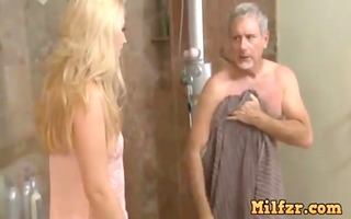 sexy daughter tease old daddy