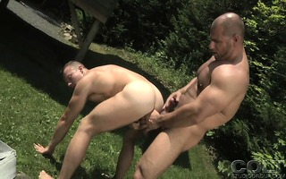 boyz with big muscles engulfing their hard rods