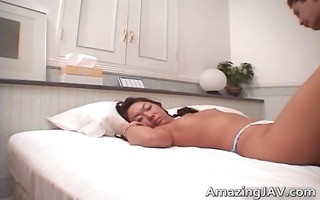asian whore acquires her curly cookie drilled
