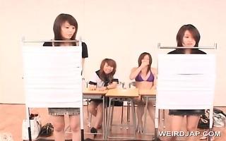 oriental legal age teenager sweeties flashing