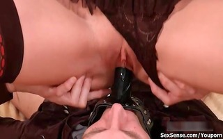 golden-haired hottie acquires her cunt drilled