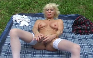 golden-haired drilled by her neighbour