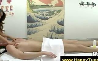 oriental masseuse suggests a handjob