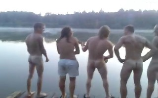 str1 chaps singing naked at the lake