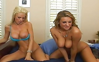 breathtaking blond and redhead with large