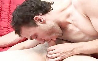 facial ejaculation after a hardcore homo sex