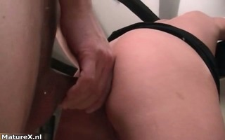 excited aged woman enjoys being drilled part7
