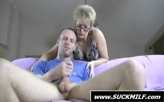 short haired d like to fuck in glasses gives