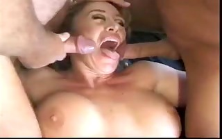 aged with big boobs acquires 4 knobs