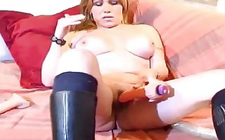 breasty mature non-professional wife toying gazoo