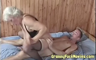 real lustful granny copulates younger fellow