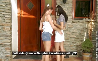 latika and camie and mellie stunning lesbian gals