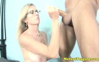 cook jerking loving mother i with spex tugs cock