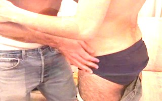pair of dudes take it is back to their place -