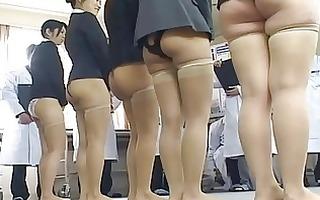 chicks in an anal japanese fuckfest ooze cum