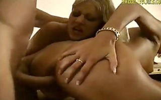 golden-haired lesbos photographed and screwed by