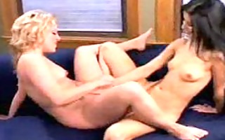 asia - blond lesbian angel fucking toys pt3