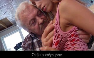 fortunate granddad gustavo copulates hot youthful