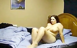 bulky wife screwed on real homemade clip