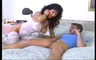 breasty mother i with younger man, in german