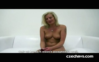 blonde milf in st casting discharge
