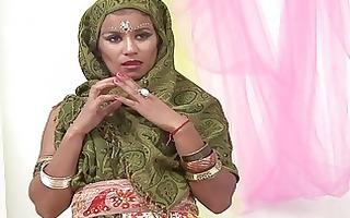 nice-looking indian wife sucking muscle pecker