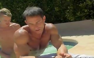 twink sex dad poolside prick loving