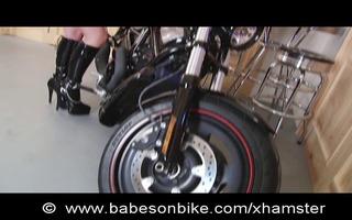 fetish honey on bike