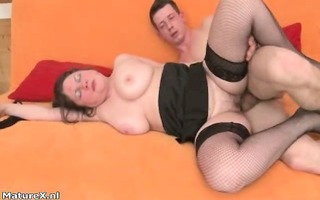 old mama drilled hard by lustful juvenile lad