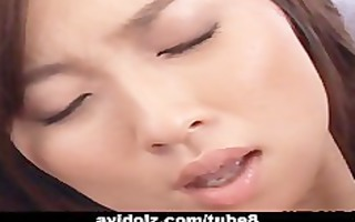 asian playgirl getting down with ribald sex-toy