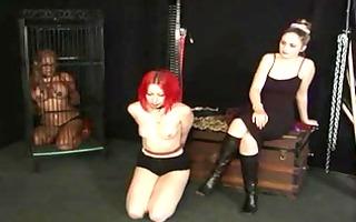 hot sadomasochism gimp tied and punished