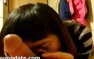 oriental wife gives oral and acquires nailed