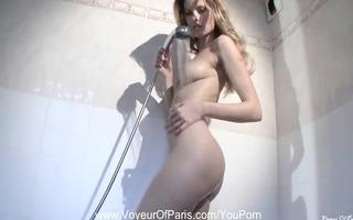 french angel girlfriend showering