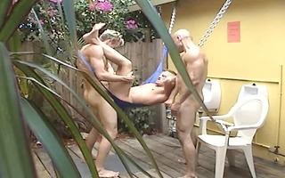 a swing, a pool, and boys fucking - factory movie