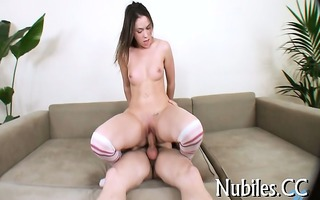 gal bounds on chubby penis
