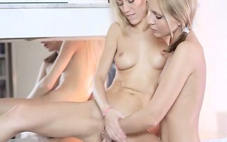 gals licking and toying the one and the other