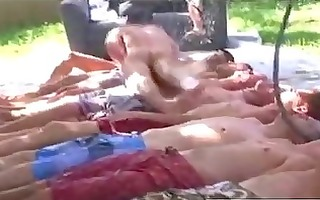 hazing homosexual guys playing bare wrestling