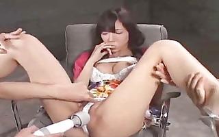 asian hotty next door is masturbation and sex-toy