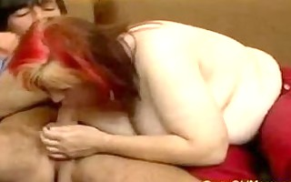 avid old mommy gets large pounder blowjob and