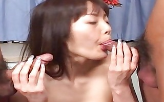 hawt oriental chick double oral-sex