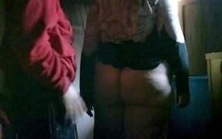 hidden camera #7 bulky mommy bent over (extended)