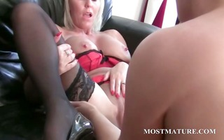 bitchy golden-haired lesbian dildoes older love