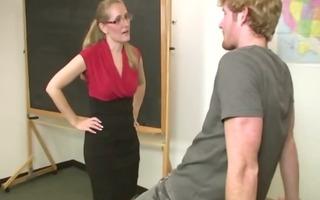 horny d like to fuck teacher sucks student off in