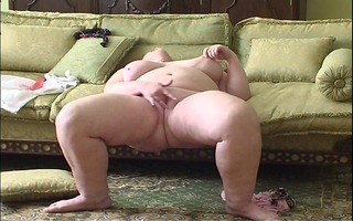 large woman enjoys her own company [clip]