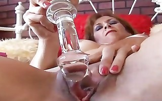 nice-looking older redhead is feeling sexually
