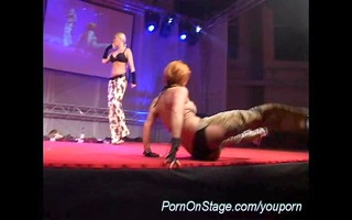 sexy lesbo show on stage